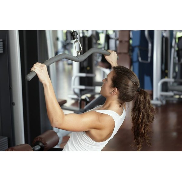 The lat pulldown is one of the many exercises you can perform on the Weider 8630.