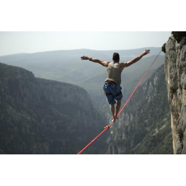 Tightrope walking is an example of exceptional balance.