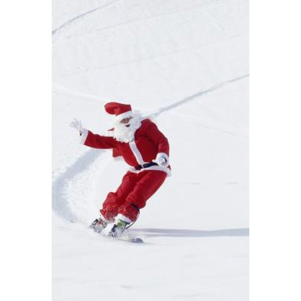 Have a teammate ski in a Santa suit instead of his normal coat.