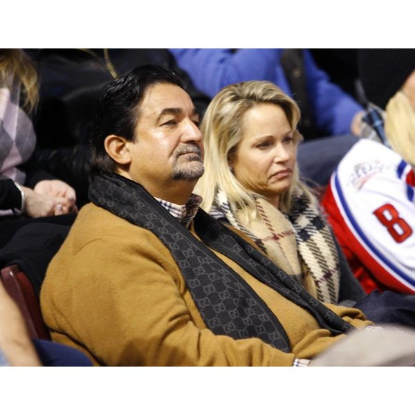 Washington Capitals owner Ted Leonsis and his wife watch a game.