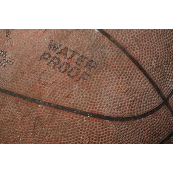 Leather basketballs can become worn down over time.