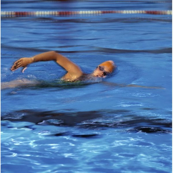 Regular cardio, such as swimming, can help to burn fat.
