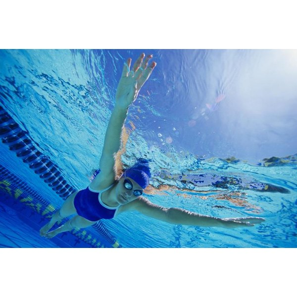 Front floating helps a swimmer get comfortable with putting her face in the water.