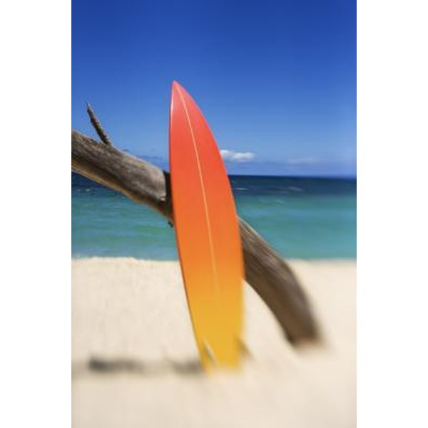 Surfboards have different design features based on a surfer's skill level.