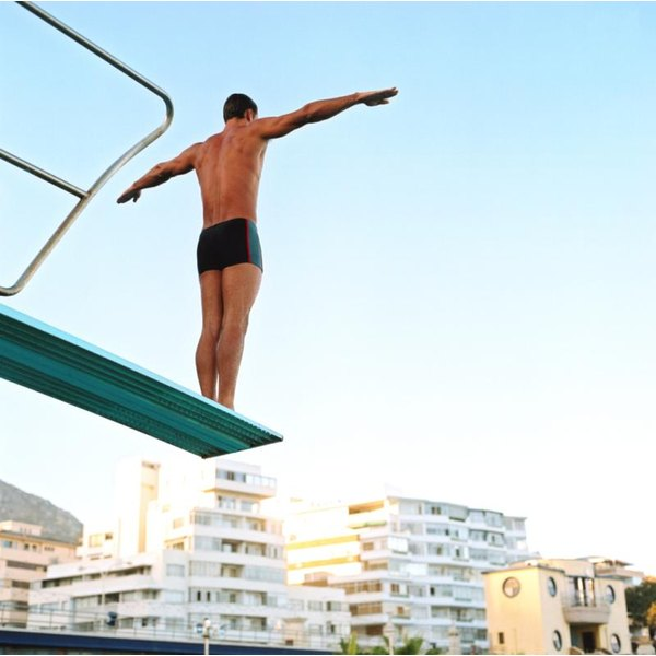 Jackknife dives require a raised diving board.