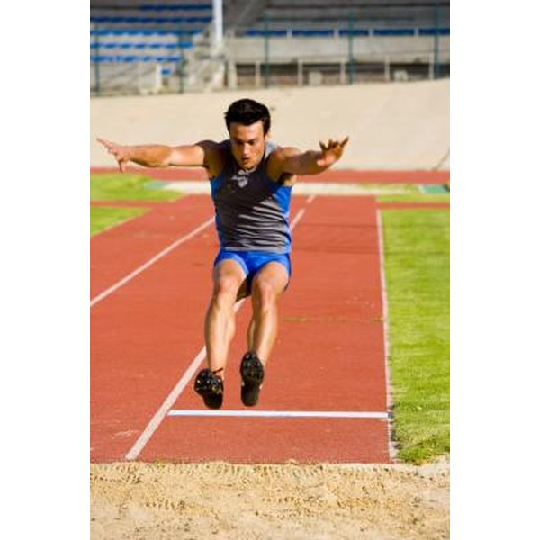 The long jump requires training and focus.
