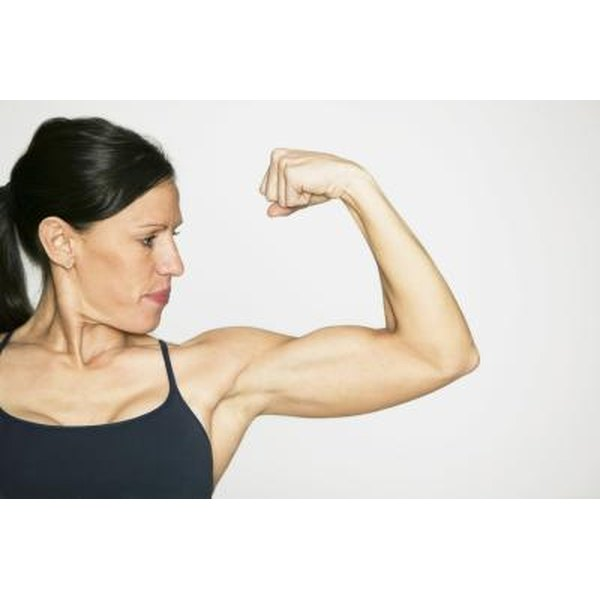 Get fab, not flab, underarms by focusing on triceps exercises and decreasing your body fat.