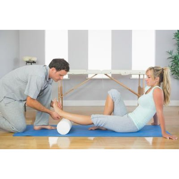 Use a foam roller to massage tight muscles.
