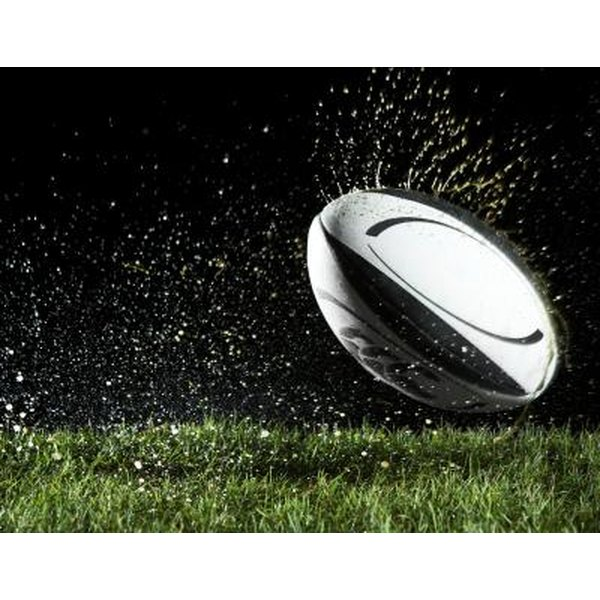Modern rugby balls are designed to withstand the elements.