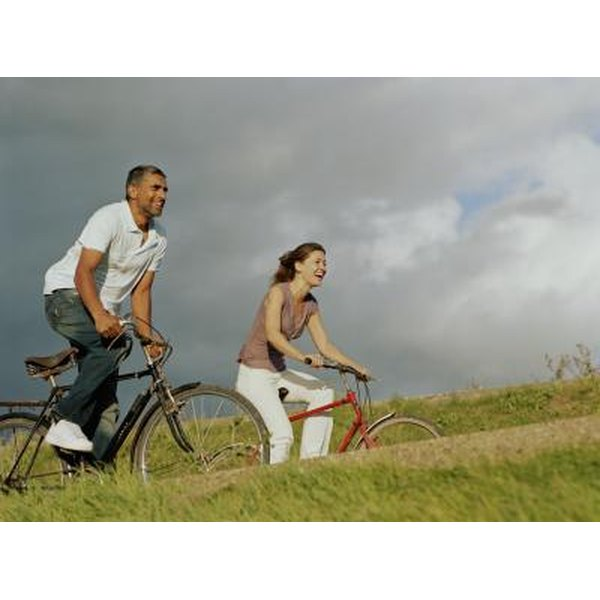 Riding a bike involves both cardiovascular and muscular stamina.