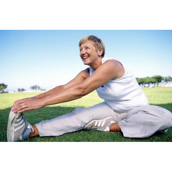 Woman over 50 stretching