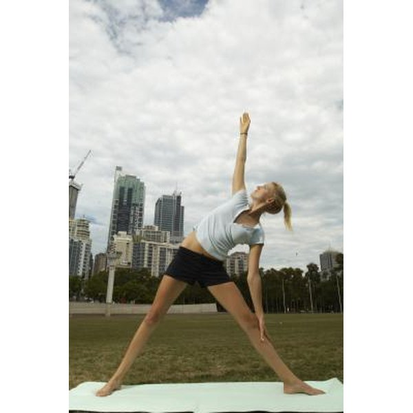 Side Angle pose stretches your lower back to alleviate sciatic nerve pain.