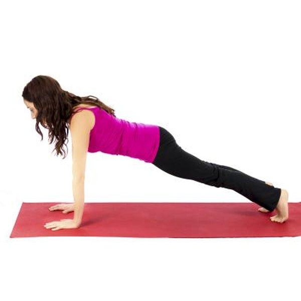 The straight-arm plank on your toes is more challenging than the elbow-and-knee plank.