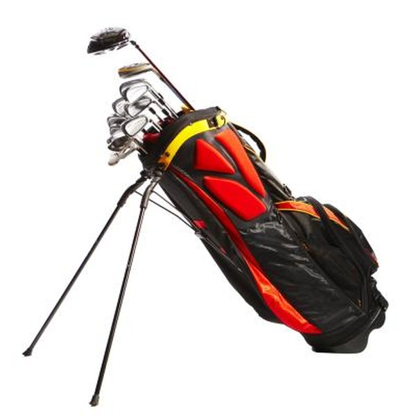 A well-organized golf bag places clubs at the ready.