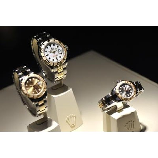 Rolex watches on display