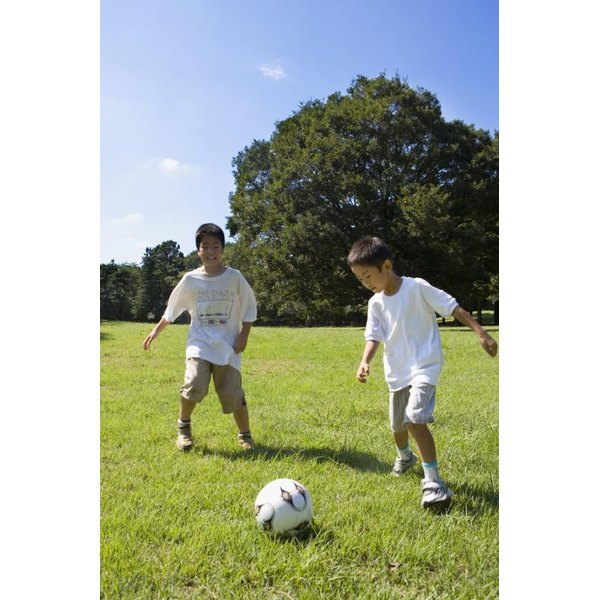 The proper soccer ball size helps youth players develop their skills.
