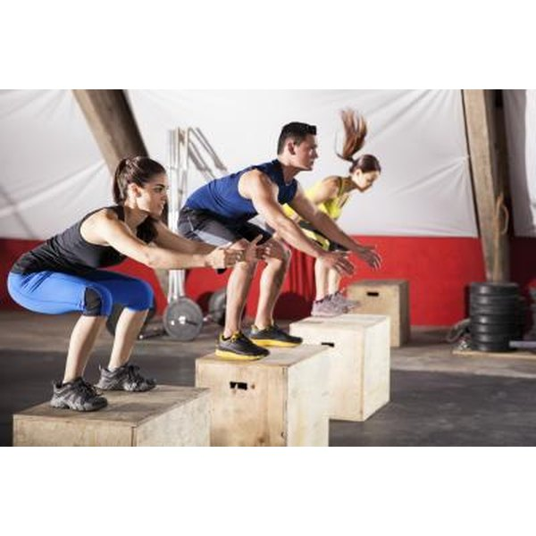 Land in a squat as you box jump.