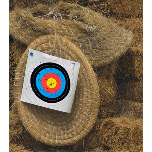 FITA archery targets consist of a colorful bull's-eye.