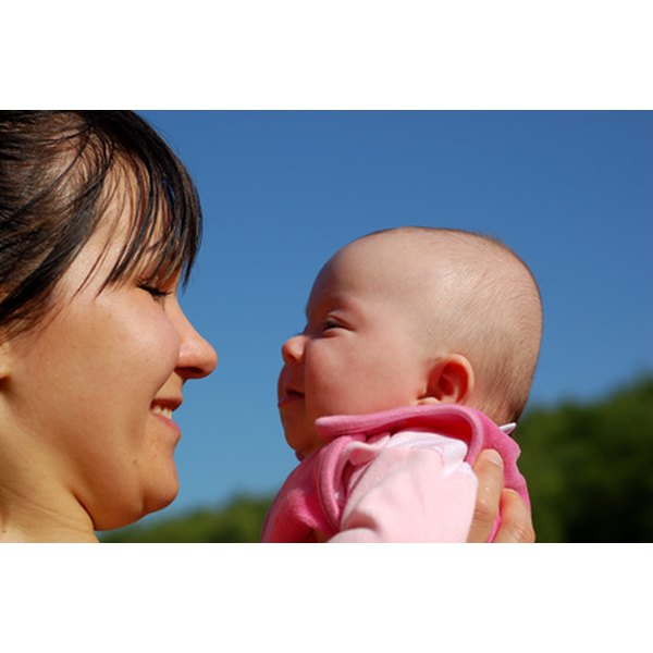 Meeting your eyes helps baby's social development.