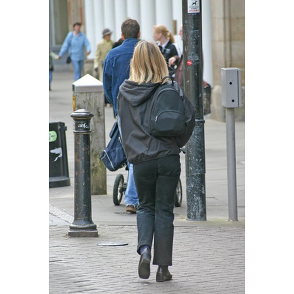 Wearing a backpack on one shoulder can cause back pain.