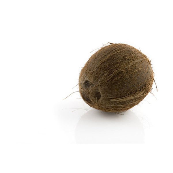 Coconut fiber increases water absorption.