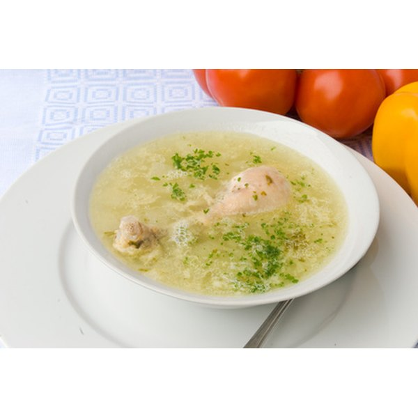 A bowl of chicken soup may help to relieve difficulties with breathing.