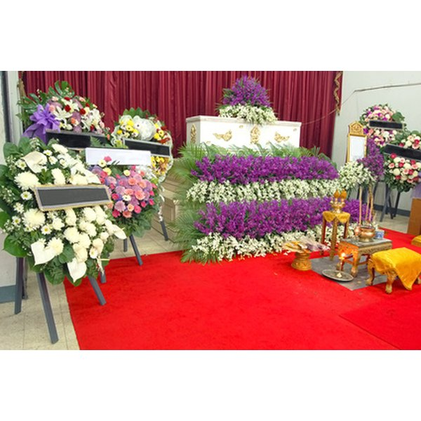 Funeral preparation in context.