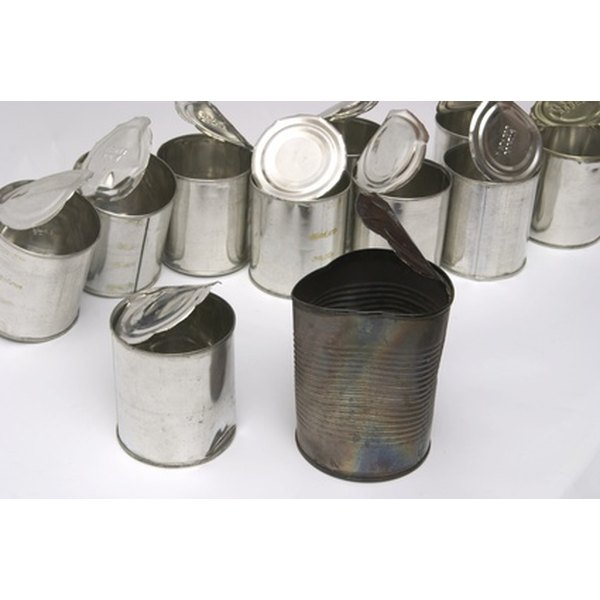 Metal food cans are just one thing that can go into the recycling bin.