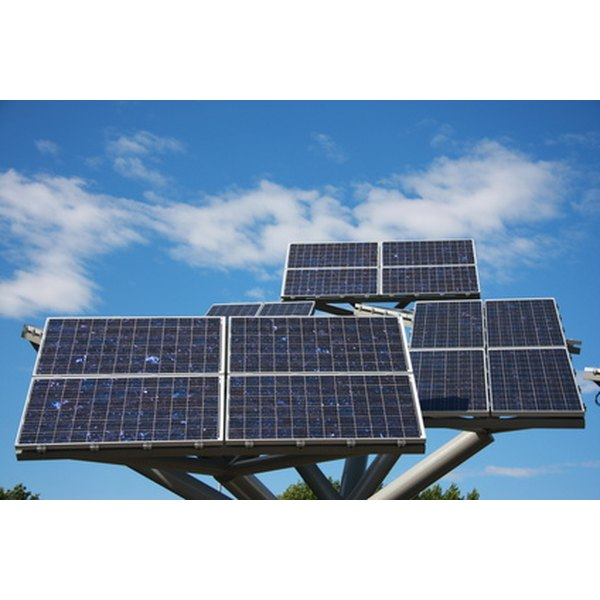 Solar panels can be constructed using purchased solar cells and common materials.
