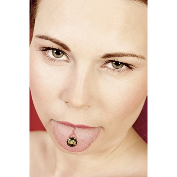 Proper care of your tongue piercing provides pain relief.