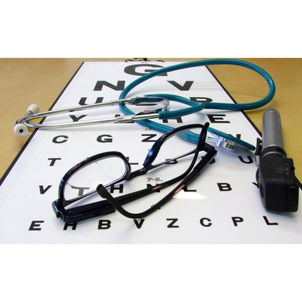 The Snellen eye chart determines visual acuity.