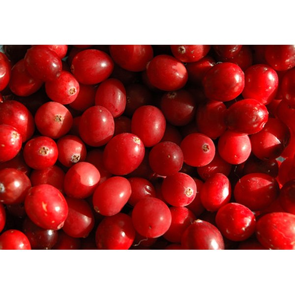 Cranberries are tart yet healthy fruits.