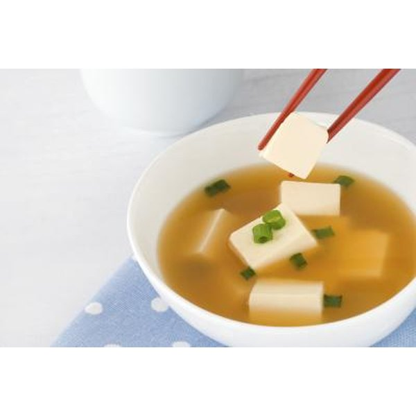 Miso soup with Tofu.
