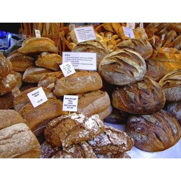 Artisan selection of bread.