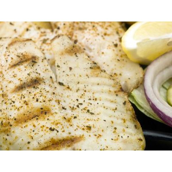 Grilled Tilapia with lemon and onion