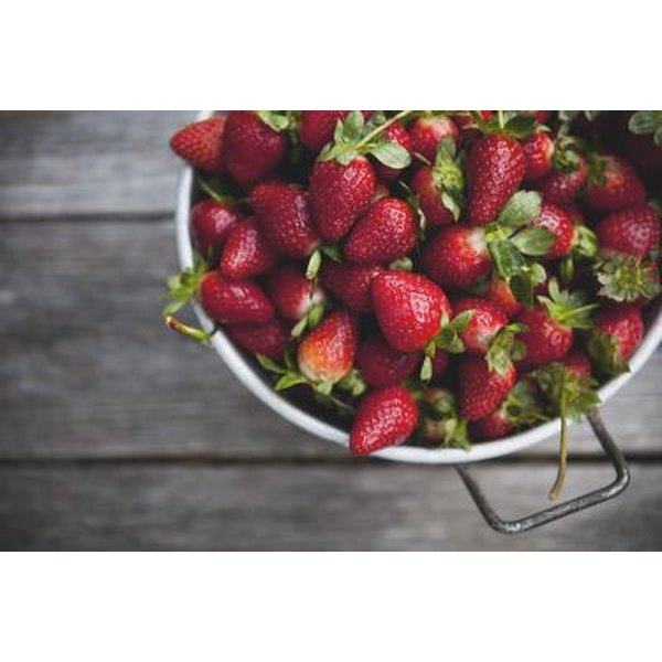 Strawberries clear cholesterol from arteries.