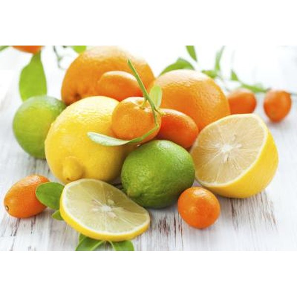 Citric and ascorbic acids are both found in oranges.