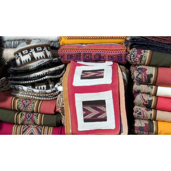 Ponchos are usually made with bright colors and patterns.