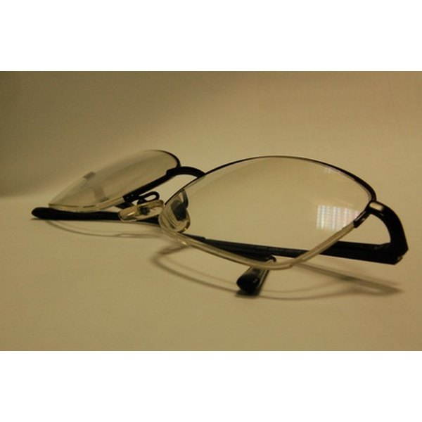 Plastic lenses with damaged anti-reflective coating can adversly effect vision.