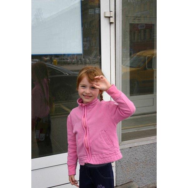 Clean nylon pink jacket cuffs.