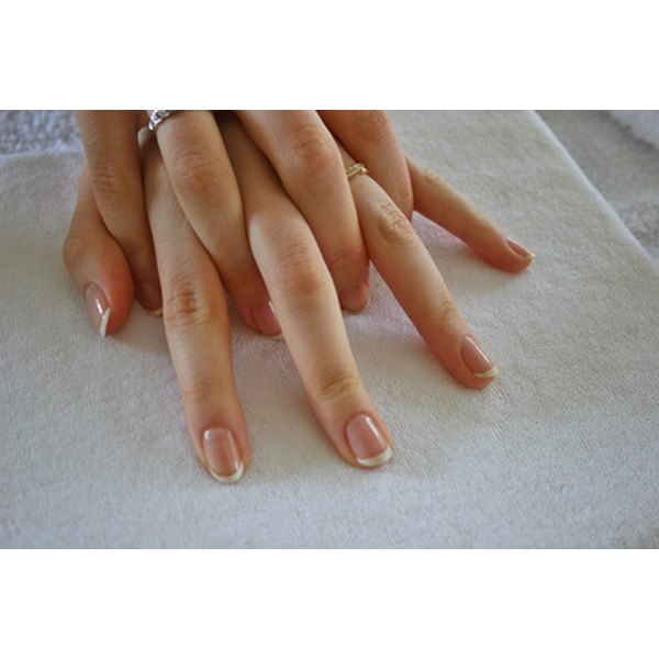 A French manicure is known for its classic pink and white shades.