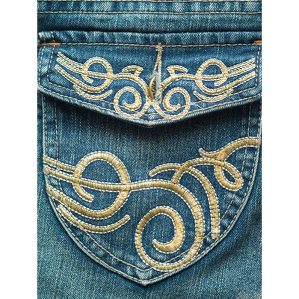 Plastisol heat transfers are a great way to make your jeans special.
