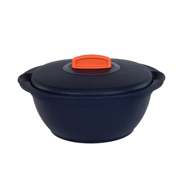 Enameled cast-iron cookware is commonly used with induction cookers.