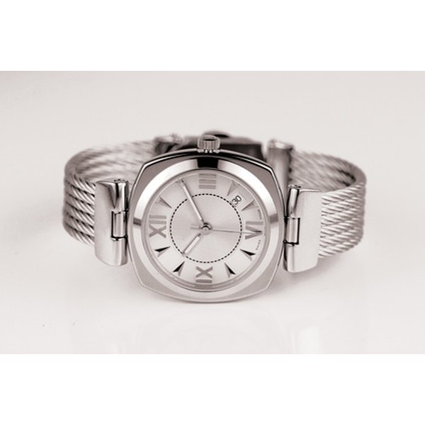 A silver wristwatch is an appropriate 25th anniversary gift.