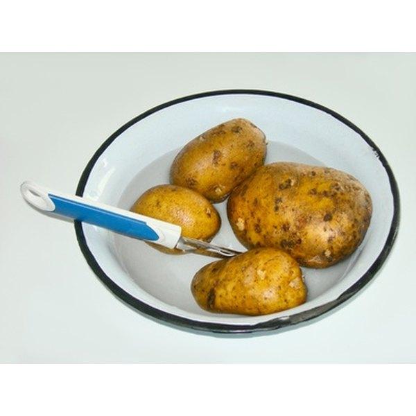 A vegetable peeler is not the easiest way to peel potatoes.