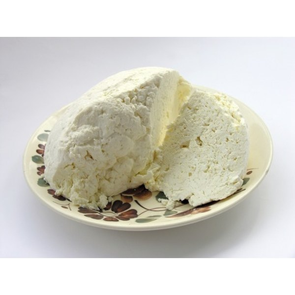 Cottage cheese comes in small, medium and large curd sizes.