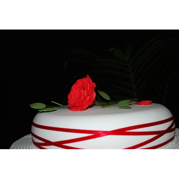 Edible ribbons look and taste great on a cake.