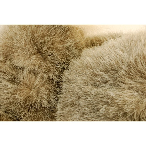 Frequently clean fake fur items to remove grime.
