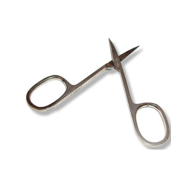 Trimming pubic area male scissors