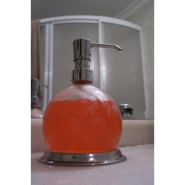Liquid soap with a pump dispenser is cleaner and more attractive than a used bar of soap.